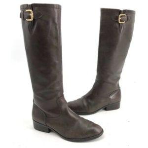 Ralph Lauren Equestrian Riding Flat Leather Boots